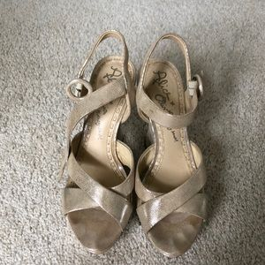 Alice and Olivia Sparkle Wedges